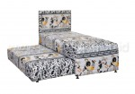 Javaland Springbed Beauty Kids 2in1 Sandaran Gray Cow - Fullset
