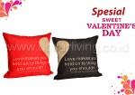 Bantal Sofa Decoration Motif Love Couple Q9 and Q10a Edisi Valentine