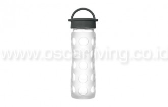 Lifefactory 16oz Bottle Transparent Classic Cap
