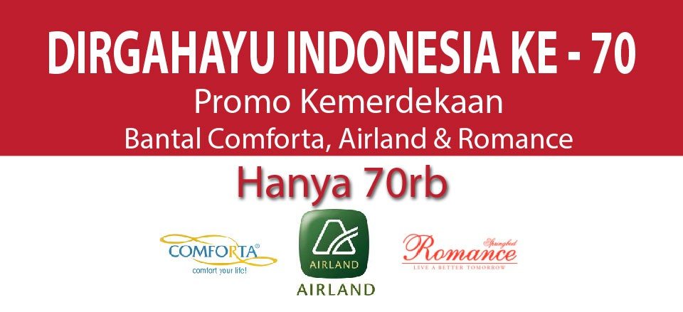 Bantal Promo HUT RI ke 70