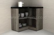 Kitchen Storage Melody Holland Corner FC Oak Dark