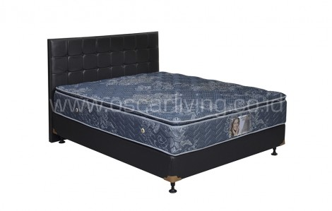 Central Grand Deluxe Single Pillowtop Bedset Sydney Oreo - Biru
