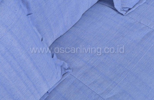 OLC Sofabed Wellington Tenun Troso Indonesia - Light Blue