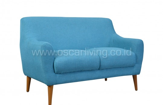 Sofa Isabel 2 Seater Biru