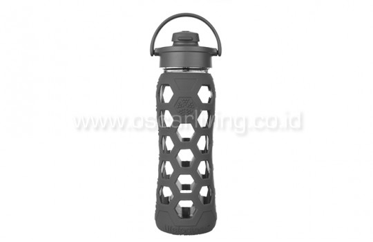 Lifefactory 22 oz Flip Cap Carbon Hex