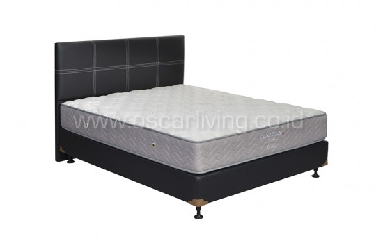 Central Grand Deluxe Pocketed Bedset Elegance Oreo - Putih