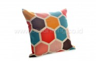 Bantal Sofa Decoration Motif Honeycomb Q3088