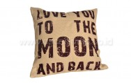 Bantal Sofa Decoration Motif Love You to the Moon and back Q3293