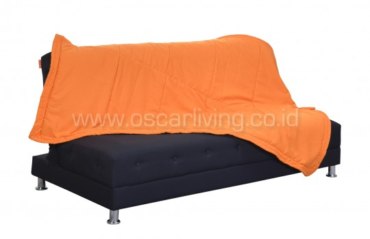 OLC Sofabed Wellington Tenun Troso Indonesia - Sweet Orange