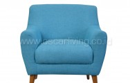 Sofa Isabel 1 Seater Biru