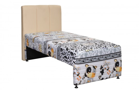 Javaland Springbed Beauty Kids 2in1 Sandaran Vadia Cream - Fullset