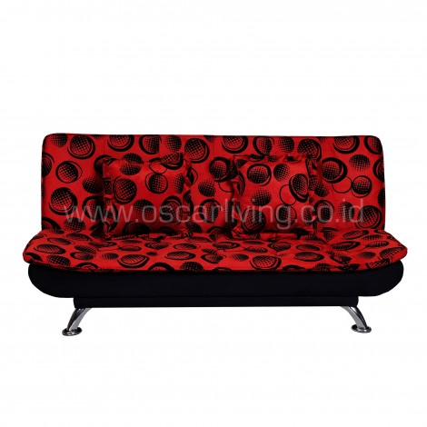 OLC Sofabed Boston Volcadot Red