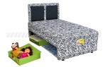 Uniland 2in1 Katun Zebra Sandaran Fantasy