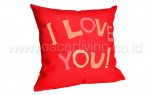 Bantal Sofa Decoration Motif I Love You Q3330