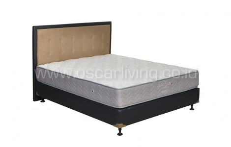 Central Grand Deluxe Pocketed Bedset Queenstown Oreo - Putih