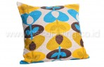 Bantal Sofa Decoration Motif Blue flower Q1521