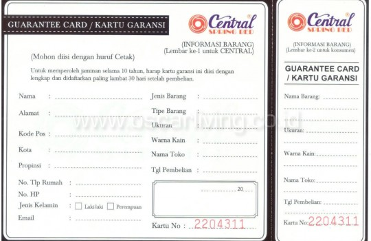 Original Central Maxy Kasur Busa Rebonded - Mattrass Only - TEBAL 21cm - GARANSI 5th