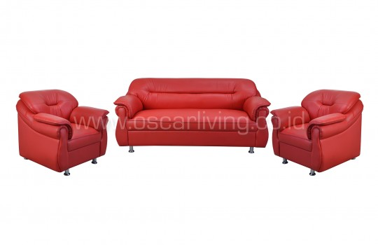 Sofa Xena 311 Full Set - Merah