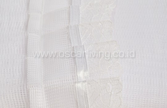 Kelambu Net - White Stripe