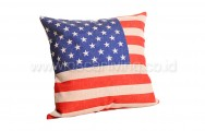 Bantal Sofa Decoration Motif America Flag Q82