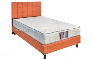 Kasur Central Grand Deluxe Star White Bedset Sydney Sweet Orange