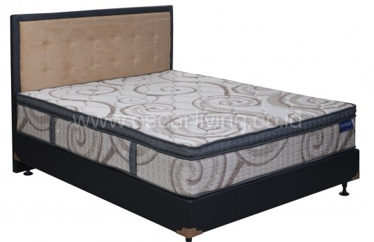 Romance Feelings Plushtop Divan Oreo + Sandaran Queenstown