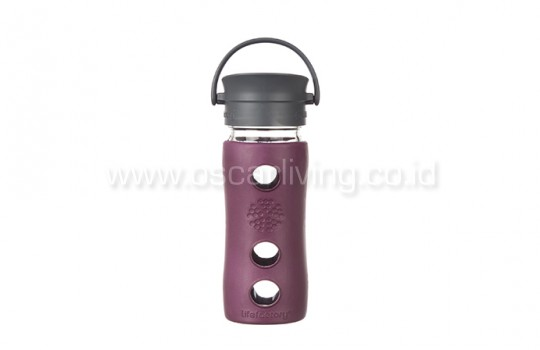 Lifefactory 12oz Bottle Cafe Plum