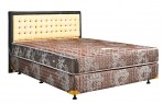 Uniland Standard Coklat Divan Standard Sandaran Victoria Cream