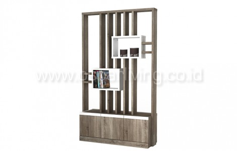 Divider Melody Mitch Room Divider Sonoma Oak Dark