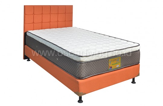 Kasur Superfit Platinum Bedset Sydney Sweet Orange