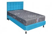 Kasur Central Grand Deluxe Star Grey Bedset Sydney Ocean Blue