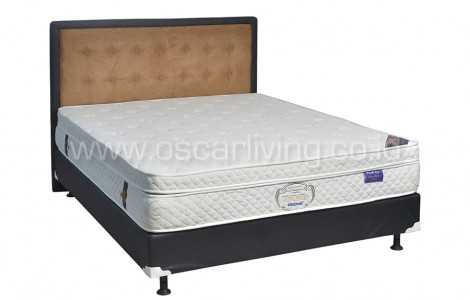 Uniland Latex Pocket Plushtop Divan Oreo Sandaran Queenstown