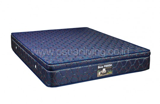 Javaland Springbed New Panda Plush Top HB Queenstown - Biru