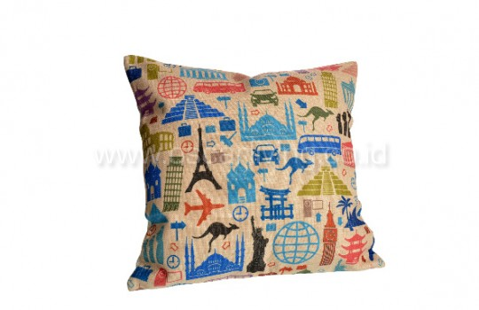 Bantal Sofa Decoration Motif Landmark Q3024