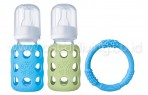 Lifefactory 4 oz Baby Bundle (sky/spring green)