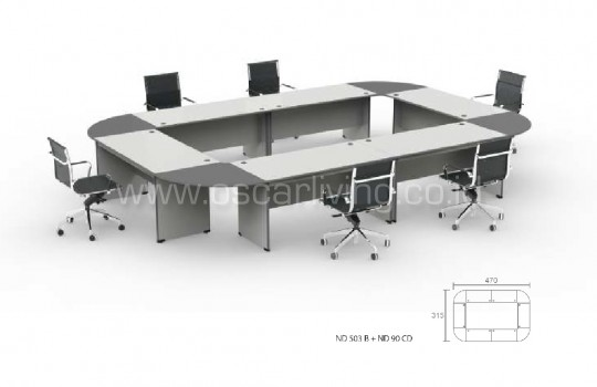Meja Meeting Grand Furniture Dynamic Conference 24C
