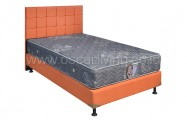Kasur Central Grand Deluxe Star Grey Bedset Sydney Sweet Orange