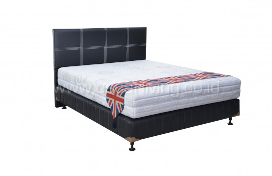 Matto Springbed Meiji Zipper Divan Kent Sandaran Elegance - Fullset