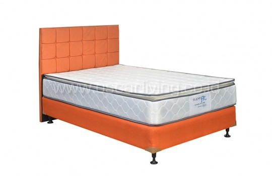 Comforta Superfit Silver Bedset Sydney Sweet Orange
